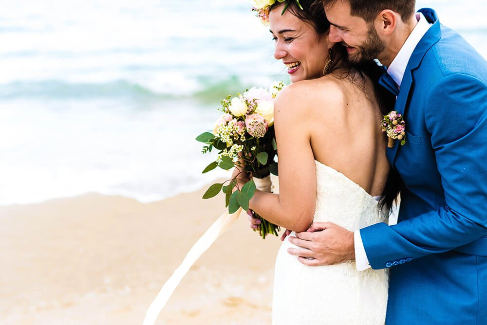 happy couple on their destination wedding